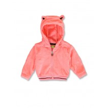 143582 Esteem baby girls fleece cardigan neon coral+english rose (8 pcs)