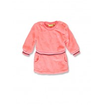 143583 Esteem baby girls fleece dress neon coral+english rose (8 pcs)