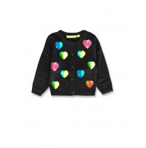 143587 Esteem baby girls cardigan sweater black+english rose (8 pcs)