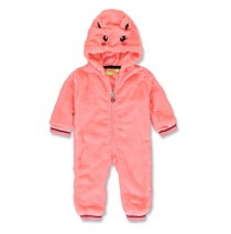 Esteem baby girls fleece overall neon coral+english rose (8 pcs)