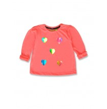 143594 Esteem baby girls shirt neon coral+english rose (8 pcs)