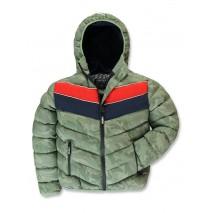 143597 Urban teen boys jacket green camouflage (10 pcs)
