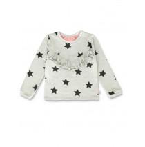 143603 Esteem small girls sweatshirt grey melange+medieval blue (12 pcs)