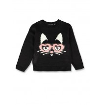 143650 Esteem small girls pullover black+medieval blue (12 pcs)