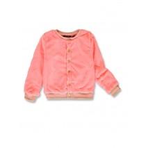 143683 Esteem small girls cardigan neon coral+celestial (12 pcs)