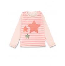 143751 Esteem small girls shirt flamingo pink+bachelor button (12 pcs)