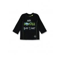 143780 Esteem baby boys shirt black+royal blue (8 pcs)
