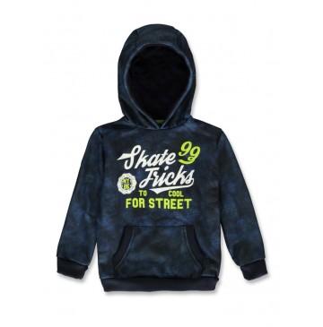 143806 Game league small boys sweatshirt navy blazer+grey melange (12 pcs)