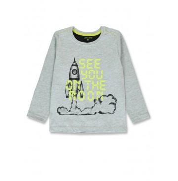 143817 Game league small boys shirt grey melange+navy blazer (12 pcs)
