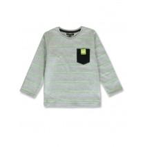 143824 Game league small boys shirt grey melange+navy blazer (12 pcs)