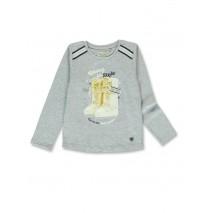 143825 Purpose full small girls shirt grey melange+navy blazer (12 pcs)