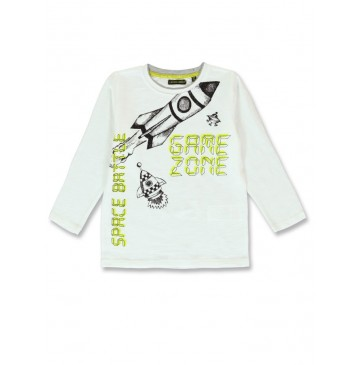 143826 Game league small boys shirt marshmallow+grey melange (12 pcs)