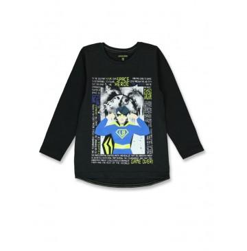 143828 Game league small boys shirt black+sulphur spring (12 pcs)