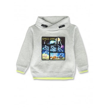 143864 Game league small boys sweatshirt grey melange+navy blazer (12 pcs)