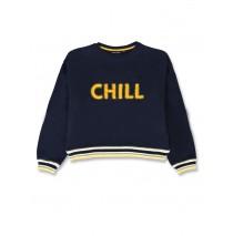 143871 Purpose full teen girls sweatshirt navy blazer+grey melange (12 pcs)