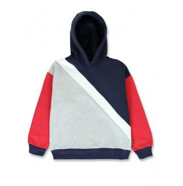 143885 Purpose full teen girls sweatshirt navy blazer+sky blue (12 pcs)