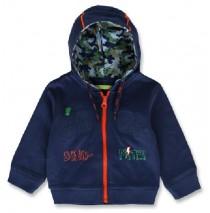 143932 Esteem baby boys cardigan sweater medieval blue+dark grey melange (8 pcs)