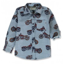 143948 Vintage small boys blouse blue (10 pcs)