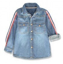 143981 Urban small boys blouse denim blue (10 pcs)