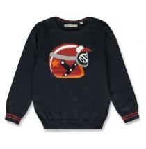143984 Vintage small boys pullover navy blazer+grey melange (12 pcs)