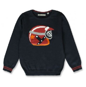 143984 Vintage small boys pullover navy blazer+grey melange (12 pcs)