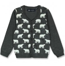 144033 Nature small boys cardigan dark grey melange+navy blazer (12 pcs)