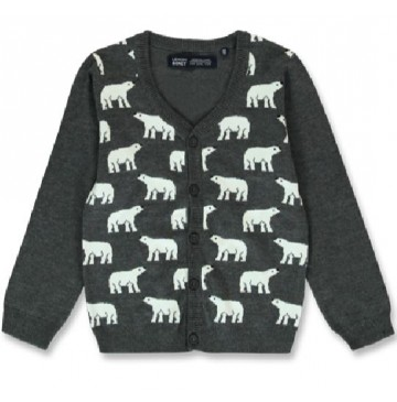 144033 Nature small boys cardigan dark grey melange+navy blazer (12 pcs)
