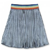 144038 Light magic small girls skirt dark grey+sky blue (12 pcs)
