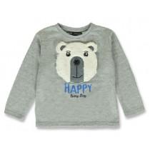 144151 Nature small boys sweatshirt grey melange+navy blazer (12 pcs)