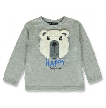 144151 Nature small boys sweatshirt grey melange+navy blazer (12 pcs)