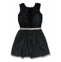 144204 Purpose full teen girls dress black (10 pcs)