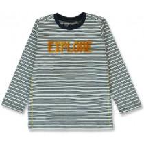 144218 Nature small boys shirt marshmallow+grey melange (12 pcs)