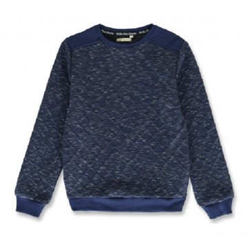 144224 Vintage teen boys sweatshirt blue+dark grey melange (12 pcs)