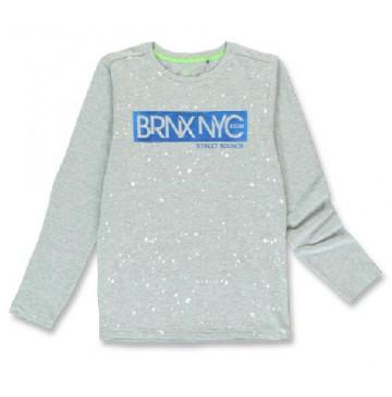 144241 City life teen boys shirt grey melange+anthracite melange (12 pcs)