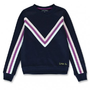 144266 Purpose full teen girls sweatshirt navy blazer+grey melange (12 pcs)