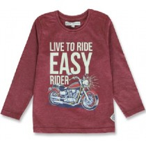 144274 Vintage small boys shirt bordeaux+royal blue melange (12 pcs)