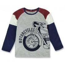 144275 Vintage small boys shirt bordeaux+royal blue melange (12 pcs)
