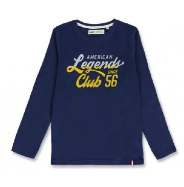 144276 Vintage teen boys shirt medieval blue+summer fig (12 pcs)