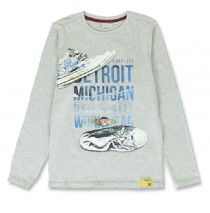 144278 Vintage teen boys shirt grey melange+anthracite melange (12 pcs)