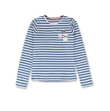 144312 Esteem teen girls shirt sky blue+english rose (12 pcs)