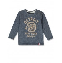 144330 Vintage small boys shirt blue melange+grey melange (12 pcs)