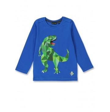144331 Discovery world small boys shirt royal blue+black (12 pcs)