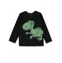 144333 Discovery world small boys shirt black+royal blue (12 pcs)