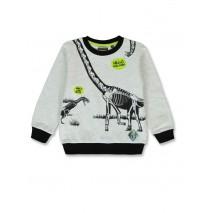 144343 Discovery world small boys shirt light grey melange+olive night (12 pcs)