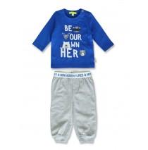 144409 Esteem baby boys set royal blue+grey melange (8 pcs)