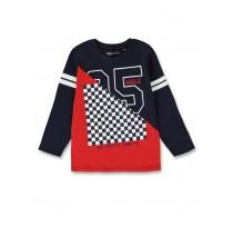 144412 Urban small boys shirt navy blazer+medieval blue (12 pcs)