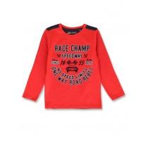 144464 Urban small boys shirt ribbon red+royal blue (12 pcs)