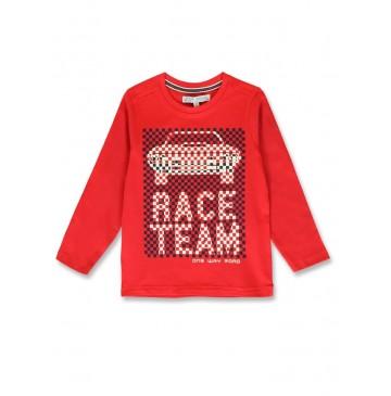 144465 Urban small boys shirt ribbon red+royal blue (12 pcs)