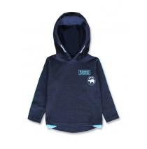 144475 Nature small boys sweatshirt dark blue+anthracite melange (12 pcs)