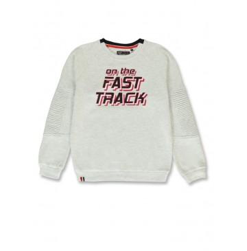 144478 Urban teen boys sweatshirt light grey melange+grey melange (12 pcs)